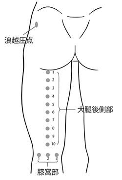 図3. 浪越圧点