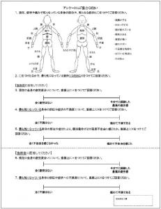 図2.アンケート 記入用紙