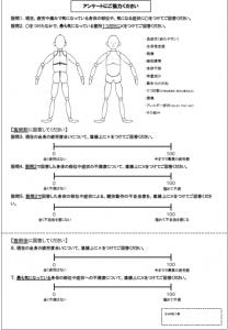 図2. アンケート記入用紙